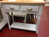 New grey & oak console hall table with drawers £199