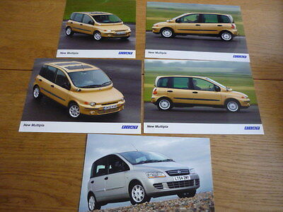 "FIAT MULTIPLA PRESS PHOTOS - 5 "" Brochure "" - jm"