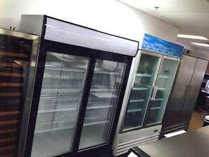 SINGLE, DOUBLE GLASS DOOR FREEZERS, COMMERCIAL FRIDGES, COOLERS, VERTICAL, STAND UP, INDUSTRIAL REFRIGERATORS