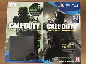 PS4 Slim 1TB + C.O.D remastered + Infinfite Warfare