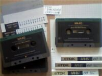 NOW REDUCED 3 x GUARANTEED TDK MA-XG 60 1990 METAL CASSETTE TAPES W/ CARDS CASES LABELS AND FREE P&P