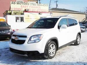 2014 CHEVROLET ORLANDO LT 7 SEATER AUTO LOAD 80K 100% FINANCING