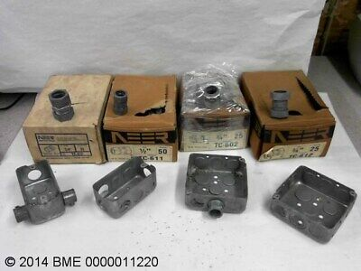 Lot Of Electrical Conduit Fittings With Handy Boxes