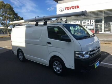 2010 Toyota Hiace KDH201R MY11 LWB White 5 Speed Manual Van