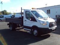 Ford Transit T350 MWB Tipper tdci 125ps DIESEL MANUAL WHITE (2014)