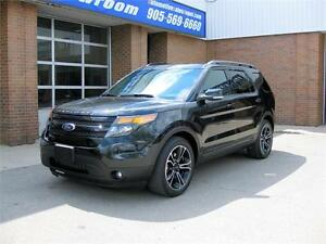 2015 Ford Explorer Sport Ecoboost 4wd + 6-Passenger + Loaded