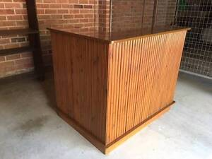 Unique 1960's Style, Solid, Polished Teak Bar Collaroy Manly Area Preview