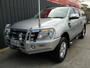 2013 Ford Ranger PX XLT Double Cab Silver 6 Speed Sports Automatic Utility Blair Athol Port Adelaide Area Preview