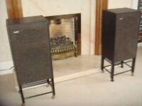 Pair of Goodmans MezzoSL loudspeakers with stands.