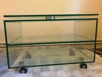 Glass TV stand - £20