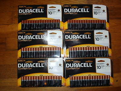 6 X 16  AAA   DURACELL BATTERIES. TOTAL OF 96  BATTERIES.
