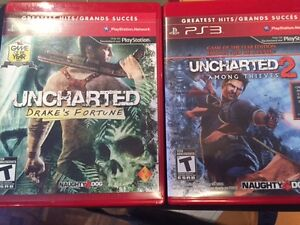 PS3 Unchartered + 2