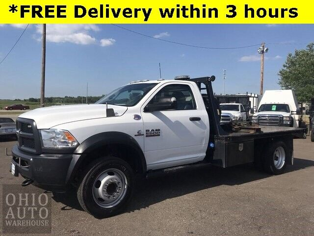 2018 Ram 5500HD Tradesman 4x4 Cummins DIESEL Flatbed 1-Own Cln Car