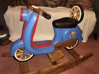 Large hand made blue Italian Scooter rocker Rocking Horse / Scooter