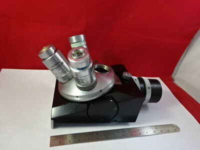 Vickers Uk Microplan Nosepiece Objectives Optics Microscope Part As Is 93-28