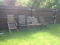 Joblot of folding garden chairs for spares or repair