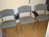 Three home or office , guest padded chairs