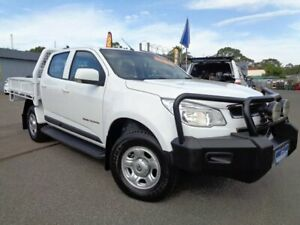 2015 Holden Colorado RG MY16 LS (4x4) White 6 Speed Manual Crew Cab Chassis