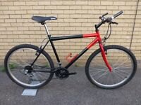Hybrid bike in red and black. Very Good Condition