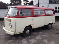 VW Bay Window Type 2 Camper 1975 Tax Exempt, Restored 2008 TV and Mag Featured, 2 Berth Tin Westy