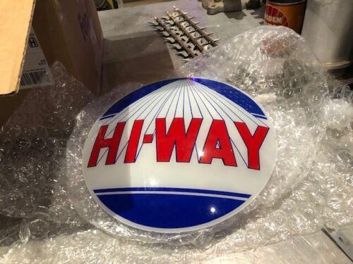 Hi- Way gas pump lenses for 13.5 inch globe original
