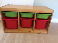 IKEA drawer unit with plastic trays