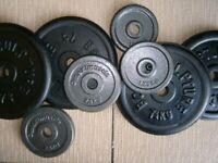 Iron, standard 1 inch hole weights 37.5kg