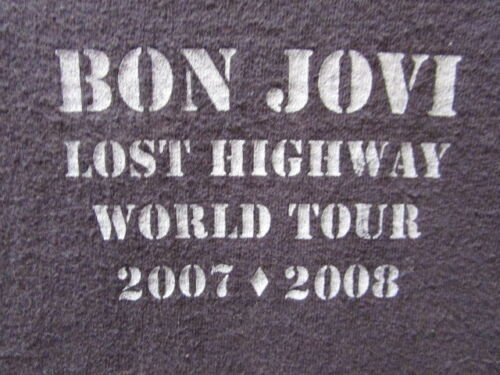 BON JOVI LOST HIGHWAY WORLD TOUR 2007 2008 LARGE PREOWNED STAGE CREW SHIRT RARE