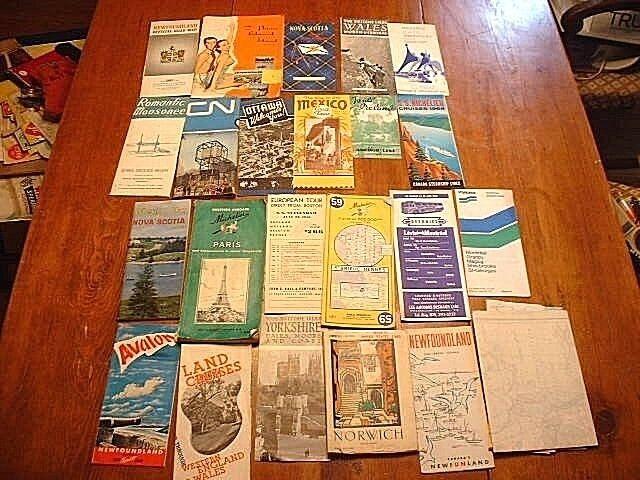 Lot of 23 Vintage World Railroad Time Tables, Maps Brochures ETC
