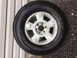 4 Rims and tires from 2013 Ford F150