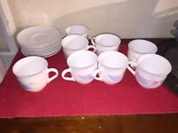 Cups and Saucers Made in France - Moving Abroad - Reduced Price