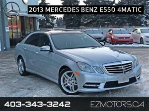2013 Mercedes-Benz E550 4matic NO ACCIDENTS!! ONLY 1 IN ALBERTA!
