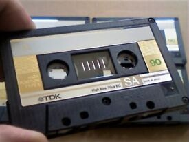LAST 3 NOW RARE GOLD ISSUE TDK SA 60 90 TYPE 2 CHROME CASSETTE TAPES 1985-87 W/ CARDS CASES & LABELS