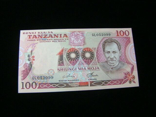 Tanzania 1977 100 Shillings Banknote Gem Unc. Pick #8d