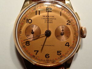 Vintage Swiss 18KT Gold Chronograph