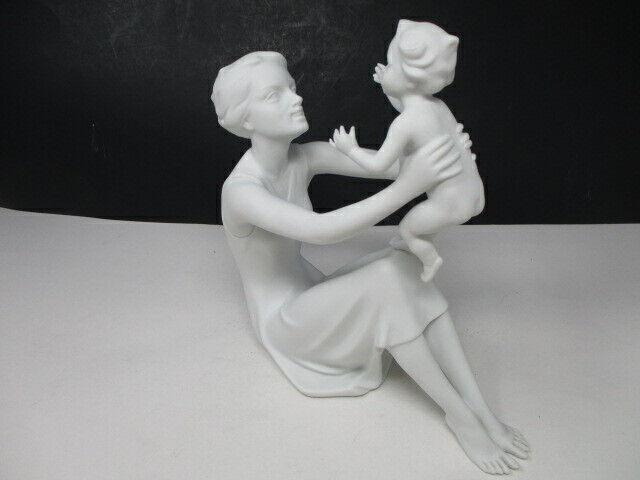 Vintage KAISER Porcelain Bochmann Mother & Child Figure-Signed, #398