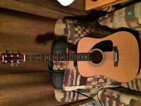 Fender Acoustic Guitar with carry case and tuner