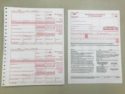 10 2018 Irs Tax Forms W-2 10 Recipients 2 Forms W-3
