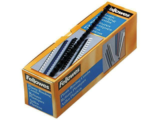 Fellowes Plastic Comb Binding Spines, 5/16 Inch Diameter, Co
