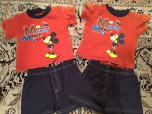 NEW Mickey Mouse 2 piece set size 0/3 months - $2