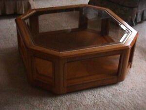 Oak & Glass  Coffee Tables
