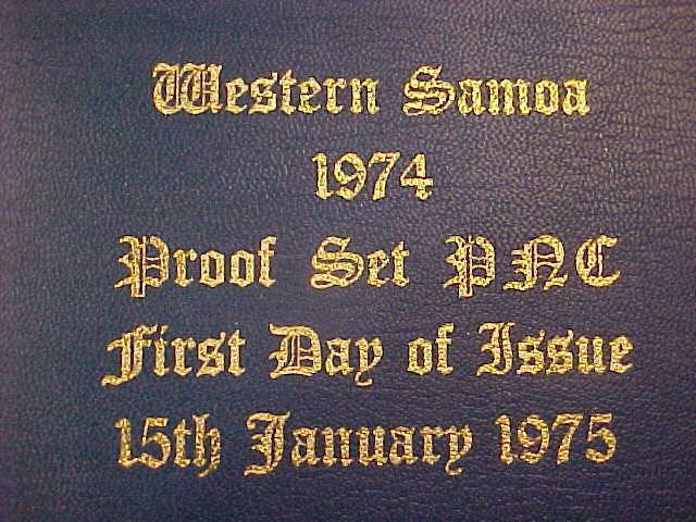 1974 HUTT COMMEMORATIVE WESTERN SAMOA FDI 15/1/1975 PROOF PNC SERIES 126 6 COINS