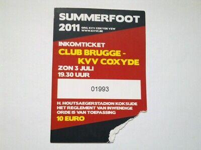 TICKET CLUB BRUGGE - KOKSIJDE:  OEFENW.  03/07/2011