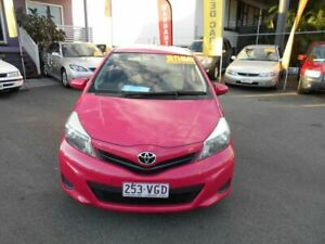 2012 Toyota Yaris NCP130R YR Pink 4 Speed Automatic Hatchback Coorparoo Brisbane South East Preview
