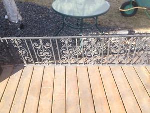 23 feet of railing