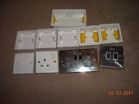 Various Electrical switches and backplates