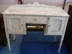 Vintage White Buffet Sideboard