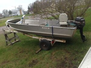 14' D&W Boat with 9.8 and trailer for $2500 obo