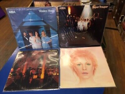 Abba 4 lot  Super Trouper, Voulez-Vous, The Visitors, Frida Something's Going On