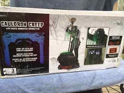 Halloween LifeSize Animated WEIRD CAULDRON CREEPER REAPER Prop Haunted House - Life Size Creeper